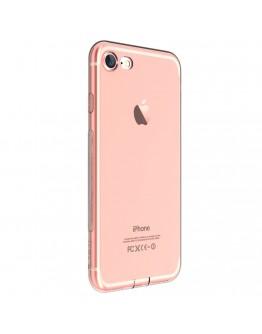 Carcasa protectie spate DEVIA din gel TPU pentru iPhone 7 Plus, rose gold