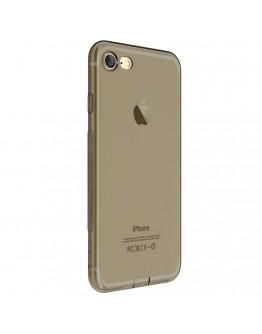 Carcasa protectie spate DEVIA din gel TPU pentru iPhone 7, gri