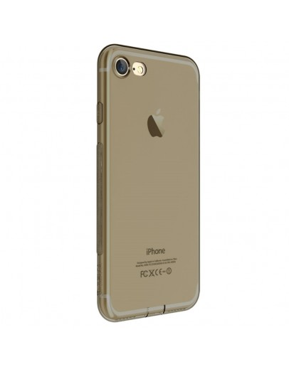 Carcasa protectie spate DEVIA din gel TPU pentru iPhone 7 Plus, gri