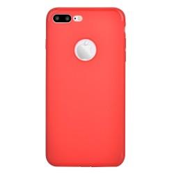 Carcasa protectie spate din gel TPU pentru iPhone 7 Plus, rosie
