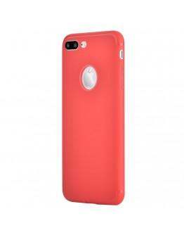 Carcasa protectie spate din gel TPU pentru iPhone 8 Plus / iPhone 7 Plus, rosie