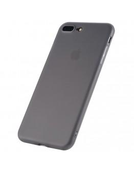 Carcasa protectie spate din plastic 1.2 mm pentru  iPhone 8 Plus / 7 Plus, gri