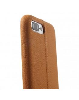Carcasa protectie spate din piele ecologica si plastic pentru iPhone 8 Plus / 7 Plus 5.5 inch , maro
