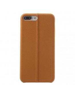 Carcasa protectie spate din piele ecologica si plastic pentru iPhone 8 / 7 4.7 inch, maro