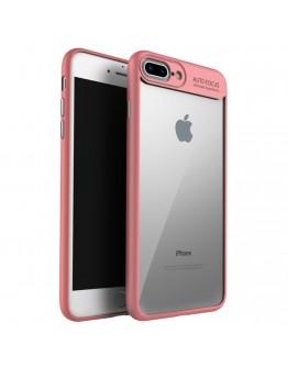 Carcasa protectie spate din gel TPU si acrilic pentru  iPhone 8 Plus / 7 Plus 5.5 inch - Rosie