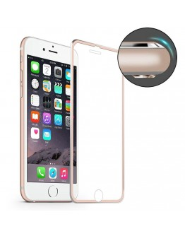 Sticla securizata HAT PRINCE curbata pentru iPhone 7 Plus 5.5 inch, rose gold