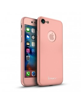 Husa protectie completa IPAKY pentru iPhone 7 4.7 inch, rose gold