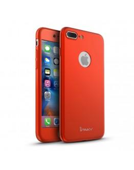 Husa protectie completa IPAKY pentru iPhone 7 Plus 5.5 inch, rosie