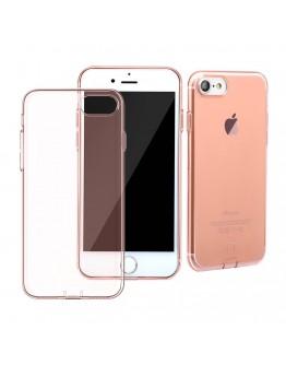 Carcasa protectie spate BASEUS cu dopuri anti-praf pentru iPhone 7 / iPhone 8, rose gold