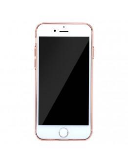 Carcasa protectie spate BASEUS cu dopuri anti-praf pentru iPhone 7, rose gold