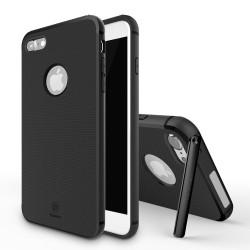 Carcasa protectie spate BASEUS cu suport pentru iPhone 7 Plus 5.5 inch, neagra