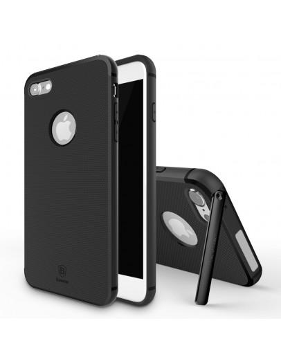 Carcasa protectie spate BASEUS cu suport pentru iPhone 7 4.7 inch, neagra
