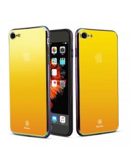 Carcasa protectie spate BASEUS din plastic cu suprafata oglinda pentru iPhone 7 Plus / iPhone 8 Plus, gold