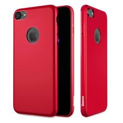 Carcasa protectie spate BASEUS din gel TPU pentru suport magnetic pentru iPhone 7 Plus, rosie