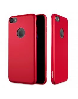 Carcasa protectie spate BASEUS din gel TPU pentru suport magnetic pentru iPhone 7 / iPhone 8, rosie