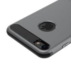 Carcasa protectie spate BASEUS din plastic si gel TPU cu suport pentru iPhone 7 Plus 5.5 inch, gri