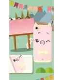Carcasa protectie spate KINGXBAR imprimata pentru iPhone 7 Plus / iPhone 8 Plus, roz