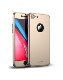 Husa protectie completa IPAKY pentru iPhone 8, gold