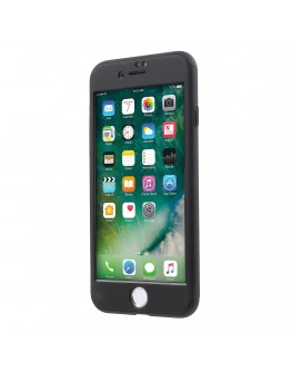 Husa protectie completa IPAKY pentru iPhone 7 4.7 inch, neagra
