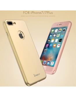 Husa protectie completa IPAKY pentru iPhone 7 Plus 5.5 inch, gold