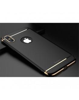 Carcasa protectie spate din plastic pentru iPhone X 5.8 inch, neagra