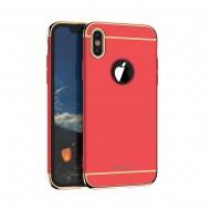 Carcasa protectie spate din plastic pentru iPhone X/Xs 5.8 inch, rosie