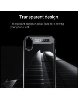 Carcasa protectie spate din gel TPU si plastic pentru iPhone X/Xs 5.8 inch, neagra