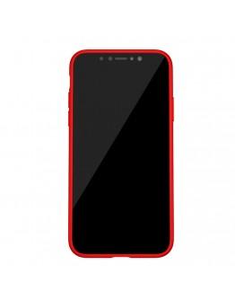 Carcasa protectie spate din gel TPU si plastic pentru iPhone X 5.8 inch, rosie
