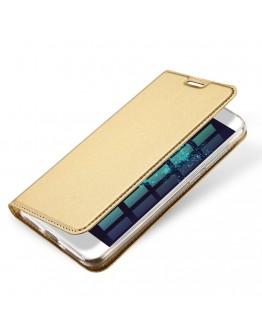 Husa protectie din piele ecologica pentru Huawei  P9 Lite 2017 / P8 Lite 2017, gold