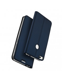 Husa protectie din piele ecologica pentru Huawei  P9 Lite 2017 / P8 Lite 2017, albastru inchis