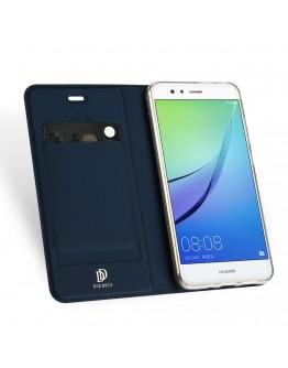Husa de protectie din plastic si piele ecologica DUX DUCIS pentru Huawei P10 Lite, albastru inchis