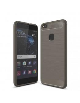 Carcasa protectie spate din gel TPU pentru Huawei P10 Lite, gri