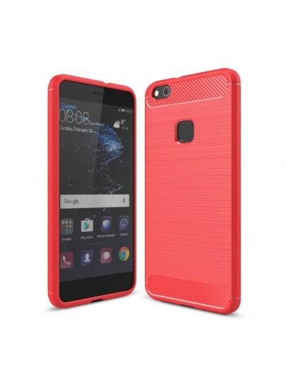 Carcasa protectie spate din gel TPU pentru Huawei P10 Lite, rosie