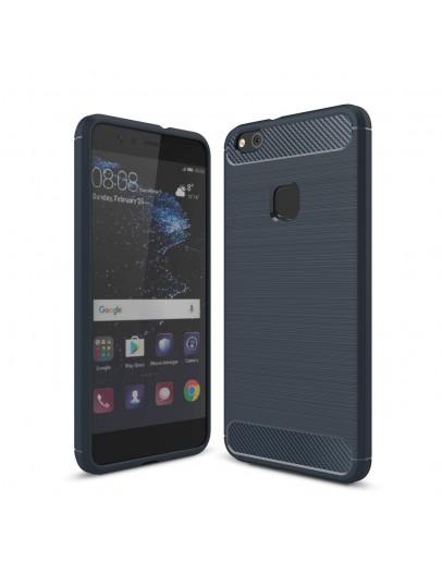 Carcasa protectie spate din gel TPU pentru Huawei P10 Lite, albastru inchis