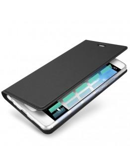 Husa de protectie din plastic si piele ecologica DUX DUCIS pentru Huawei P10, gri