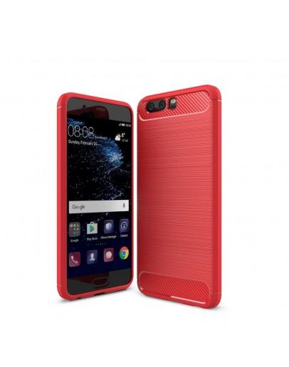 Carcasa protectie spate din gel TPU pentru Huawei P10 Plus, rosie