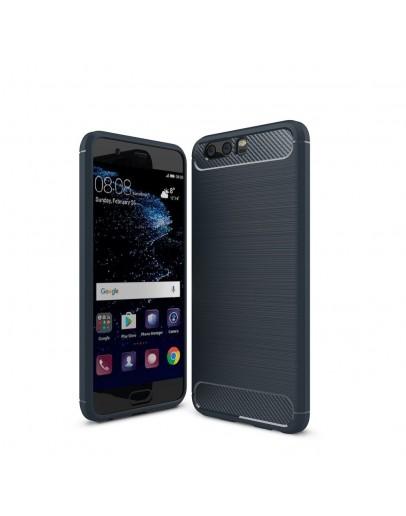 Carcasa protectie spate din gel TPU pentru Huawei P10, albastru inchis