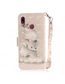 Husa protectie ,,Hamster'' din piele ecologica pentru Huawei P20 Lite