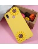 Carcasa protectie spate 3D ,,Floarea Soarelui'' din gel TPU pentru Huawei P20 Lite