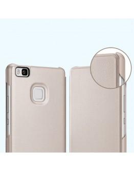 Husa protectie de tip flip cover pentru Huawei P9 Lite, gold