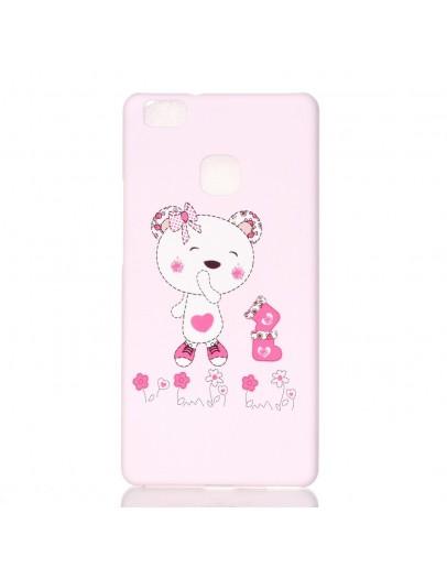"""Carcasa protectie cu imprimeu """"Ursuletul adorabil"""" pentru Huawei P9 lite, roz"""