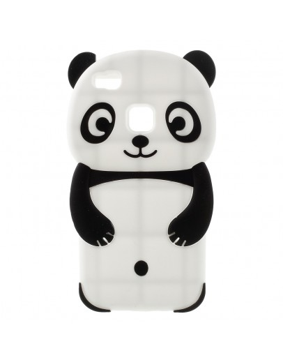 Carcasa protectie Panda din silicon pentru Huawei P9 Lite, neagra