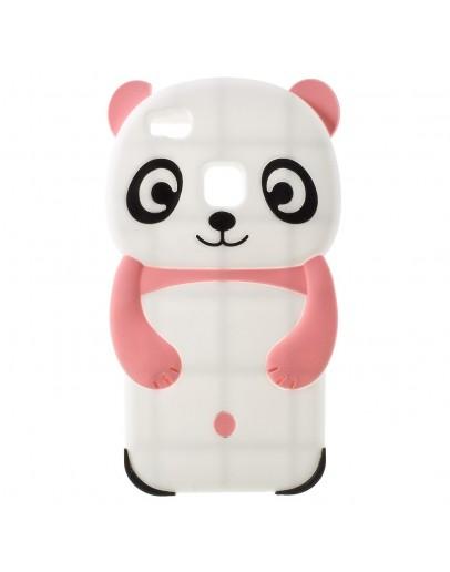 Carcasa protectie Panda din silicon pentru Huawei P9 Lite, roz