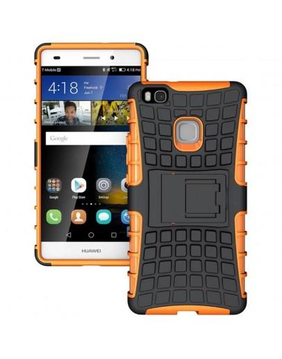 Carcasa protectie spate anti alunecare pentru Huawei P9 Lite, portocalie