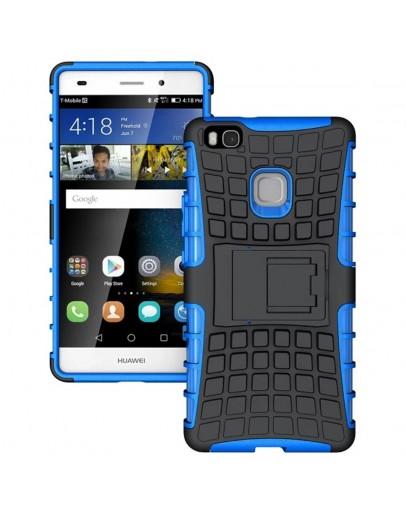 Carcasa protectie spate anti alunecare pentru Huawei P9 Lite, albastra