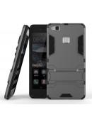 Carcasa protectie spate cu suport pentru Huawei P9 Lite, gri