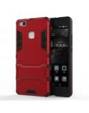 Carcasa protectie spate cu suport pentru Huawei P9 Lite, rosie