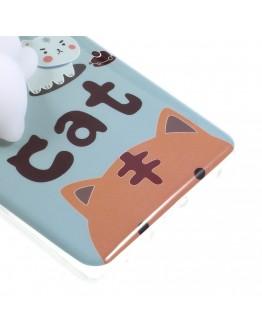 Carcasa protectie spate cu pisica Squishy pentru Huawei P9 Lite