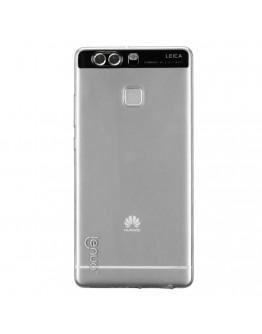 Carcasa protectie spate 0.6mm LENUO din gel TPU pentru Huawei P9, gri