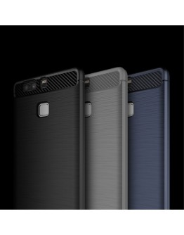 Carcasa protectie spate IPAKY din gel TPU pentru Huawei P9, neagra